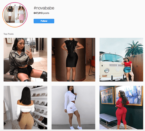 #Novababe Instagram Marketing