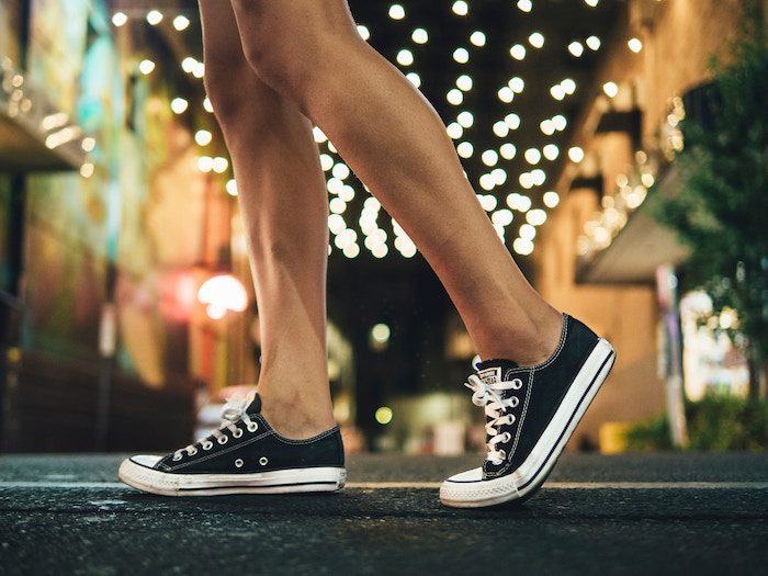 Brand Ambassador Wearing Black Converse Shoes