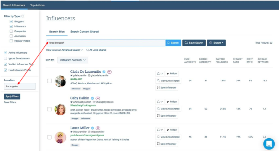 How to find influencers with BuzzSumo