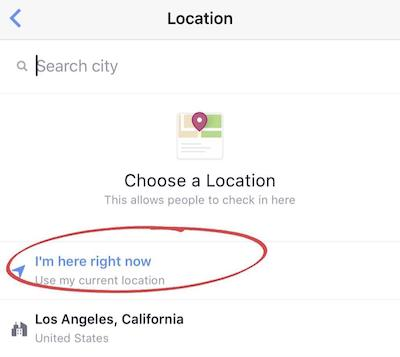 Pick a Physical Location on Instagram and Facebook