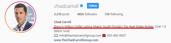 Million Dollar Listing Miami Real Estate Agent Chad Carroll Instagram