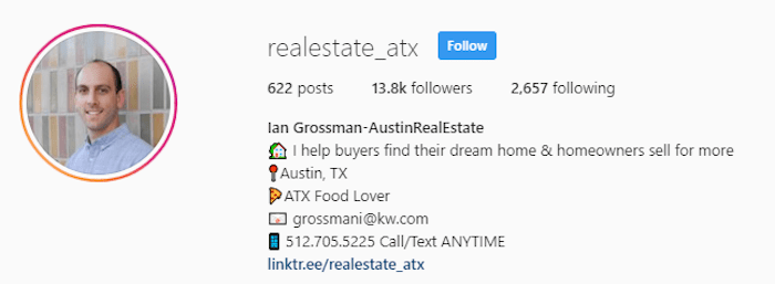 Ian Grossman Austin Texas Real Estate Agent Instagram Profile