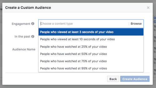 Facebook Custom Audience Features