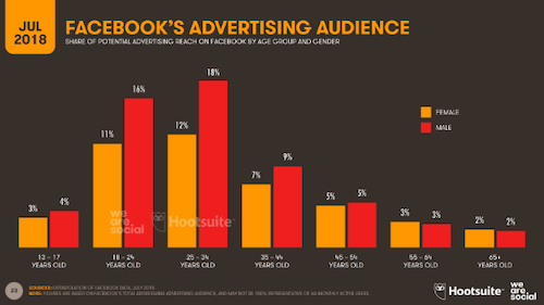 Facebook Advertising Audience Chart