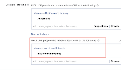 Facebook Custom Audience Exclusions