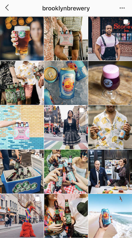 brooklyn brewery cohesive instagram feed