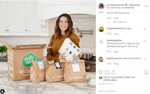 hello-fresh-mandy-moore-instagram-marketing-campaign