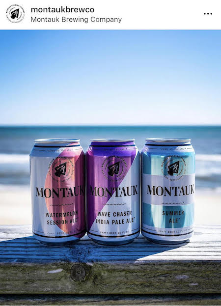 montauk brewing company beer and beach instagram post