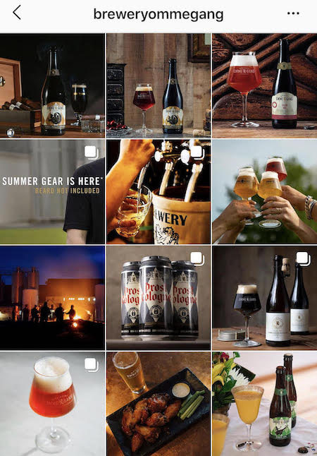 omme gang brewery instagram wall
