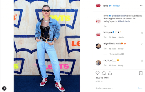 hailey-beiber-instagram-influencer-for-levis