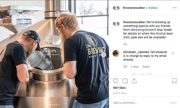 firestone walker brewery behind the scenes instagram post