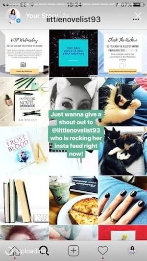 instagram story shoutout example
