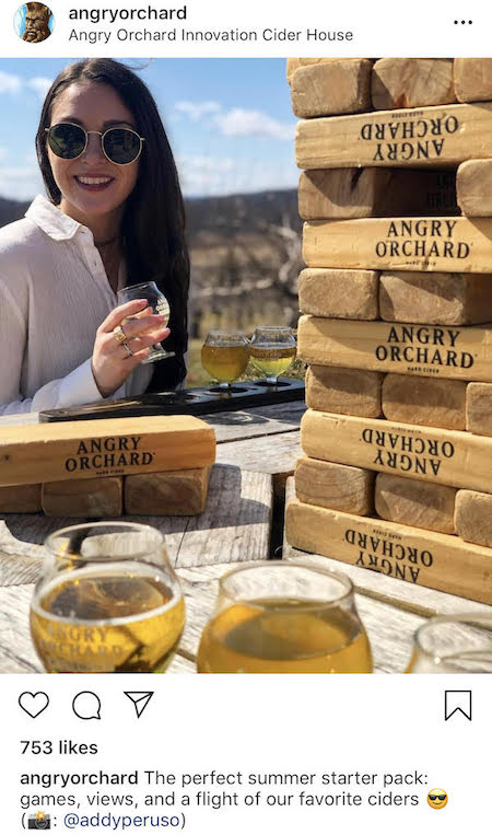 audience created content instagram marketing angry orchard post