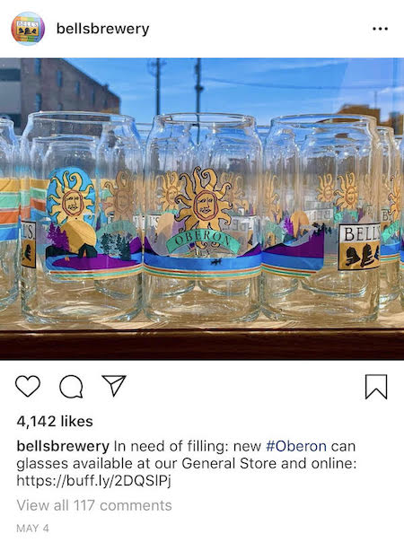 bells brewery product marketing instagram post