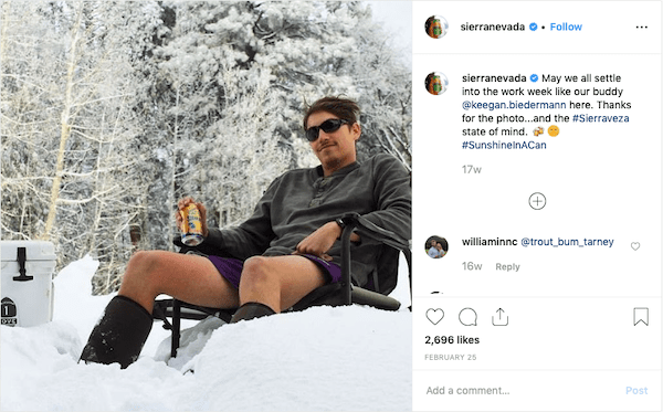 sierra nevada brewery instagram marketing post