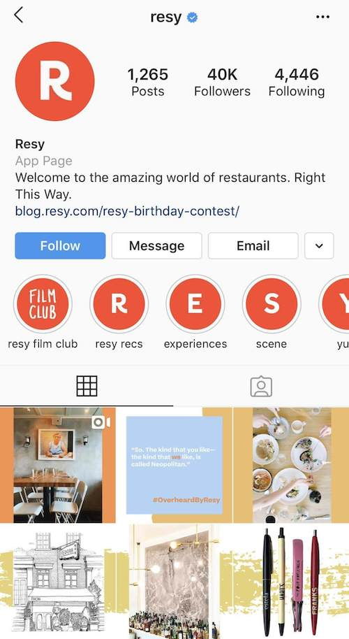 resy-restaurant-reviewer-instagram-profile