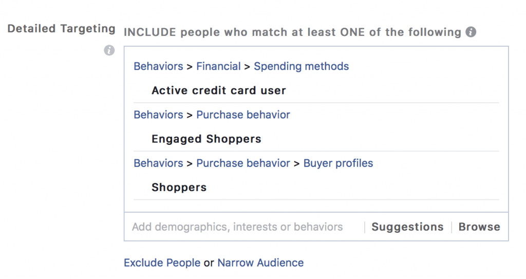 fb ad detailed targeting 2020