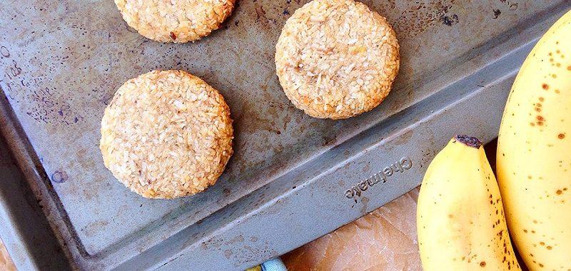 2-Ingredient Banana Coconut Cookies (Vegan, Gluten-Free)