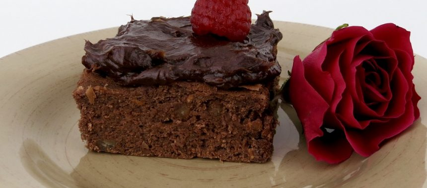 Dark Chocolate Raspberry Rose Brownies (Dairy & Gluten-Free)