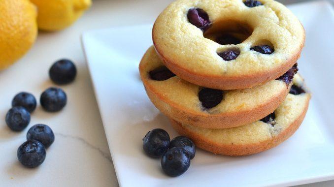 Blueberry Lemon Donuts (Dairy & Gluten-Free)