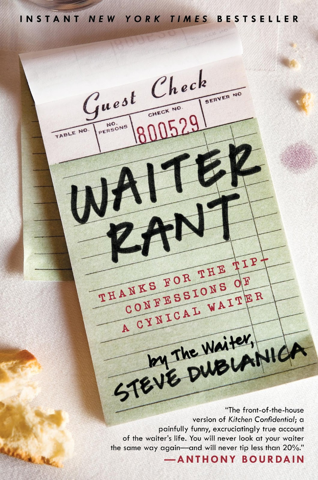 Waiter rant book