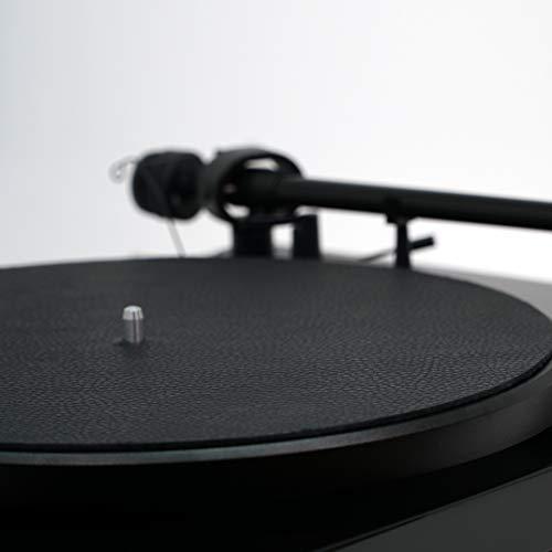 Premium Swiss Leather Turntable Mat | Black | Slipmat Made in USA