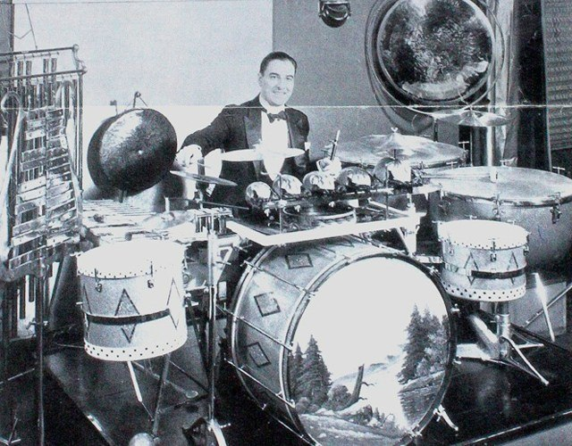 the drum set history