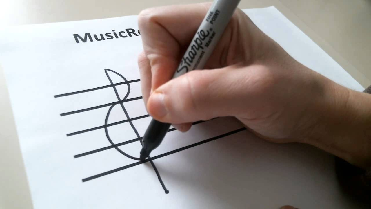 Start on the F Line and Draw the Bass Clef