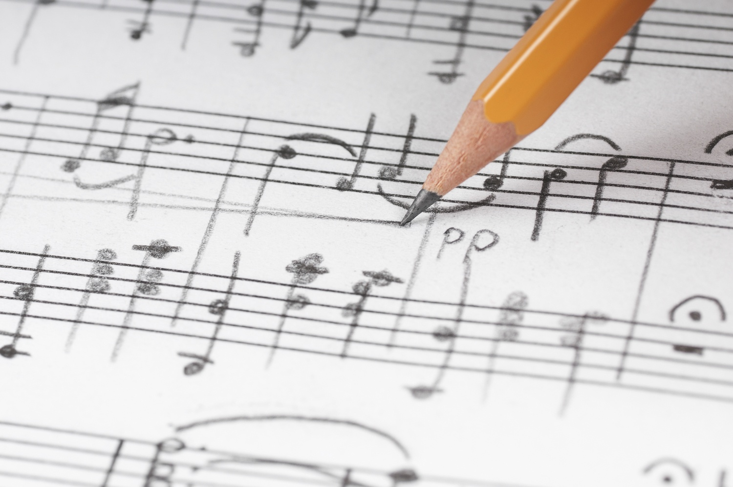 Mark the Musical Notes with a Pencil