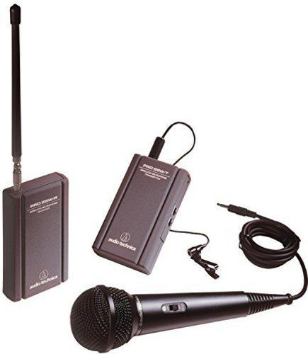 Audio-Technica ATR288W TwinMic VHF Battery-Powered Wireless Microphone System