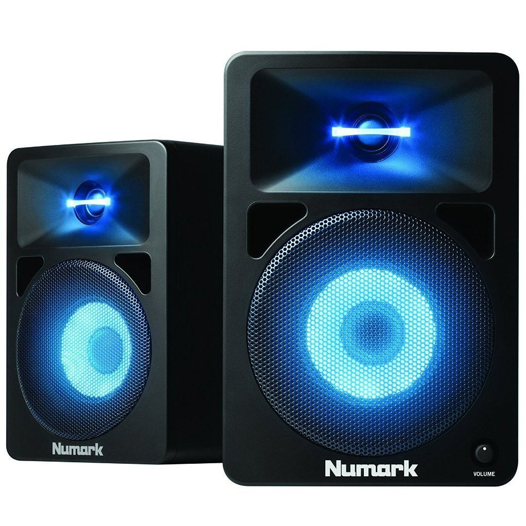 Numark N-Wave 580L Powered Desktop DJ Monitor Speakers