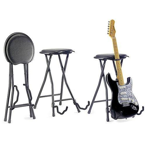 Stagg GIST-300 Foldable Stool (with Built-In Guitar Stand)