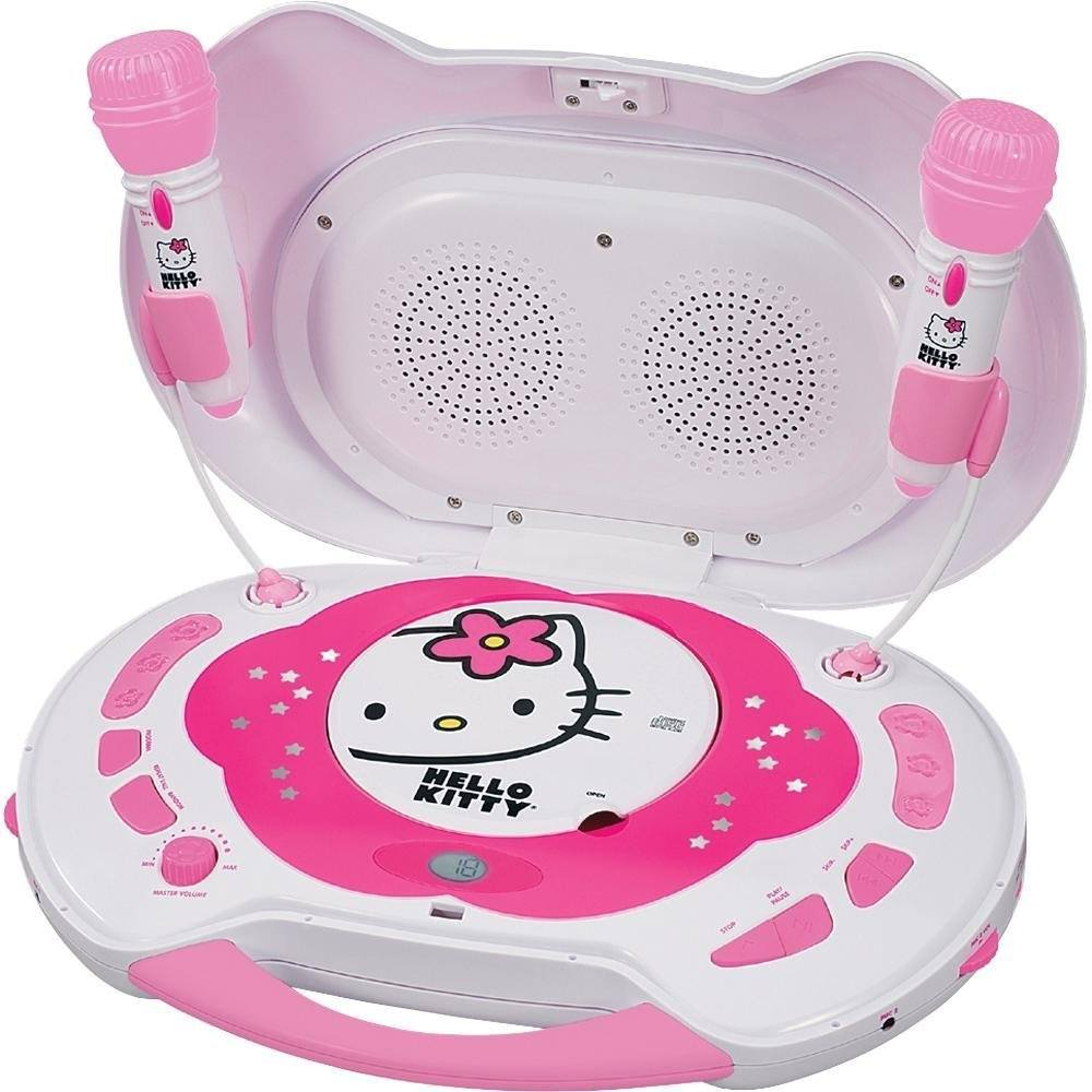 9. Hello Kitty KT2003B CD Karaoke System and CD Player, Random Play Button, LCD Display - Hello Kitty Karaoke Machine