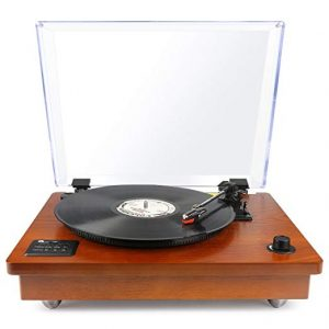 1byone Natural Wood Bluetooth Turntable Produced by 1byone, this turntable i