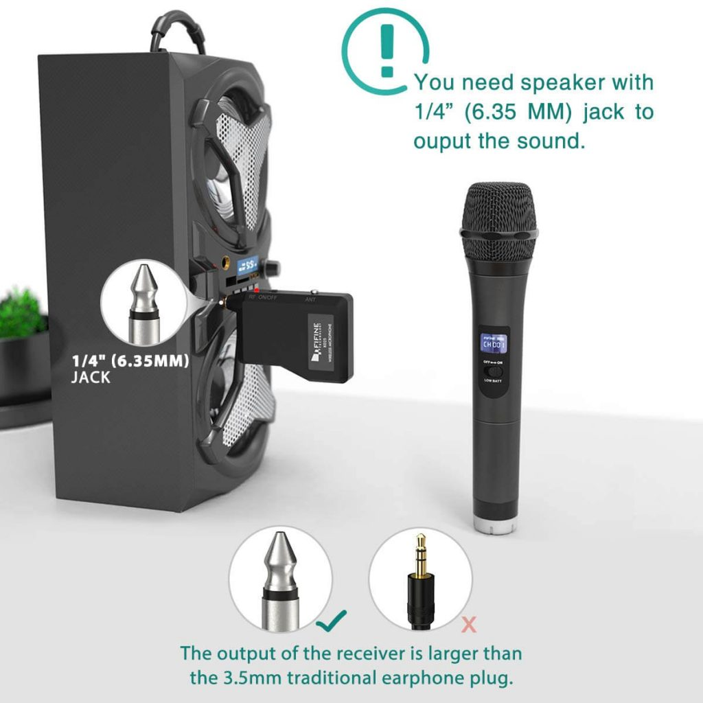 FIFINE Microphone K025 Handheld Wireless Mic System