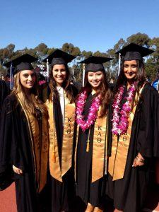 Aarani (far right) and her Zeta Rho sisters on their college graduation day.