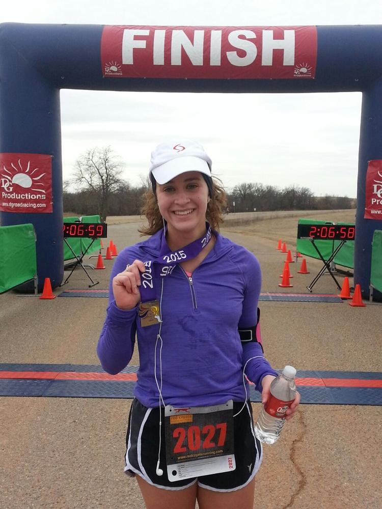 Kelly at the finish