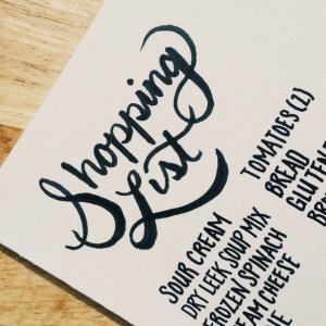 365daysoftype_Shopping list