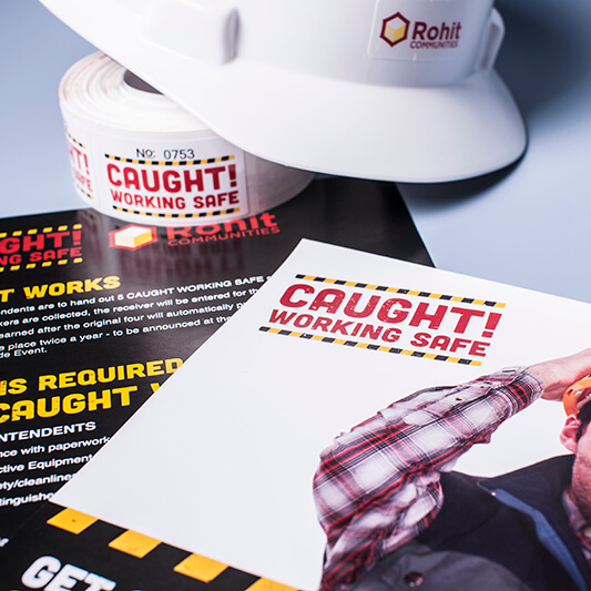 Caught working safe print materials