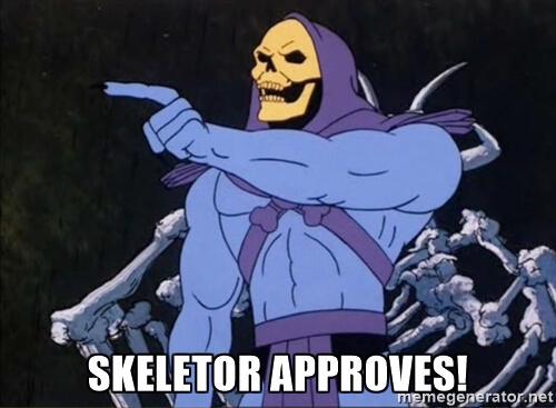 Skeletor Approves