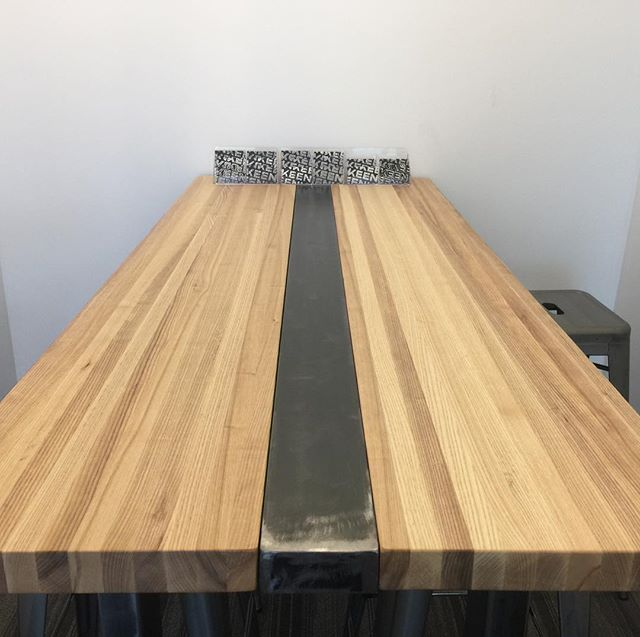 Our beauuuuuutiful new boardroom tables are hand crafted by the brilliant folks of @forgeandfell.