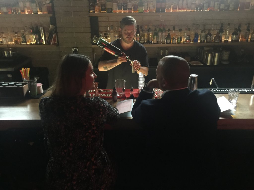 Andre of Baijiu creating a custom KEEN cocktail