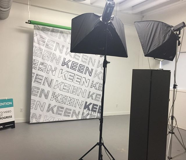 We're having a little party today with our clients and we set up our own KEEN photo booth.  Check our Insta Story this evening for party coverage and some more office reveals!