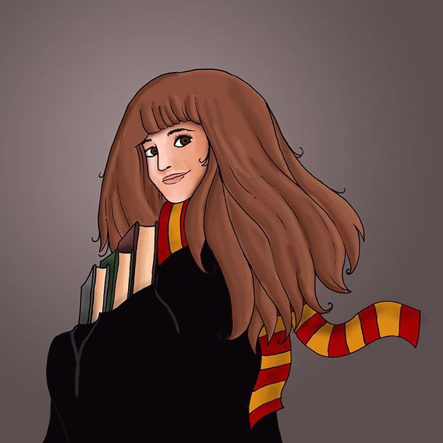 It's time for #FanArtFriday, which is perfectly timed, seeing as today is the day Albus Severus Potter begins at Hogwarts. Here's Art Director @nicolechicken's amazing illustration of Hermione!