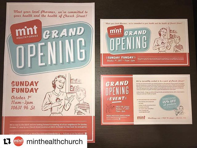 We've been having so much fun working with @minthealthchurch. Check out their grand opening in McCauley on October 1! . . . @minthealthchurch (@get_repost) ・・・ Received our promotional material today, hot off the press! Big thanks to @keencreative for all of their hard work in helping to bring our vision to life!