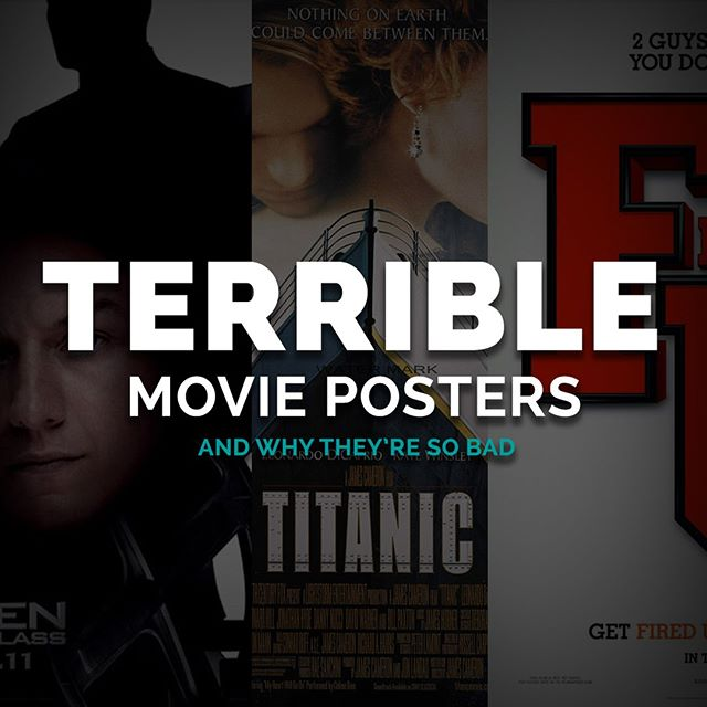 We're sad the Oscars are over, but that doesn't mean we have to stop judging movies  Check out our 5 KEENest designers analysis of some of the worst movie posters ever! Link in bio