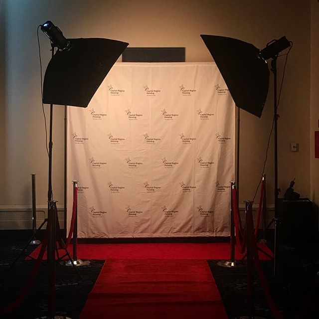 All set up for the red carpet at the @capital_region_housing Awards tonight! Excited to be here to celebrate their team and capture the evening!