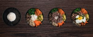 Build your own Bibimbap bowl