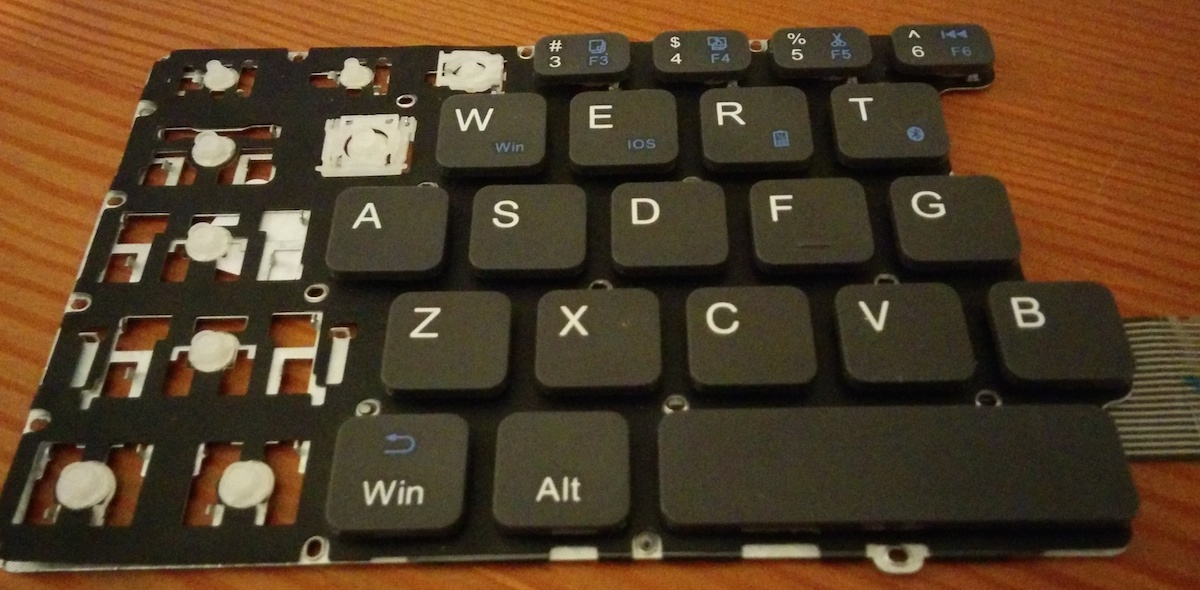 Building a foldable, ortholinear scissor switch travel keyboard
