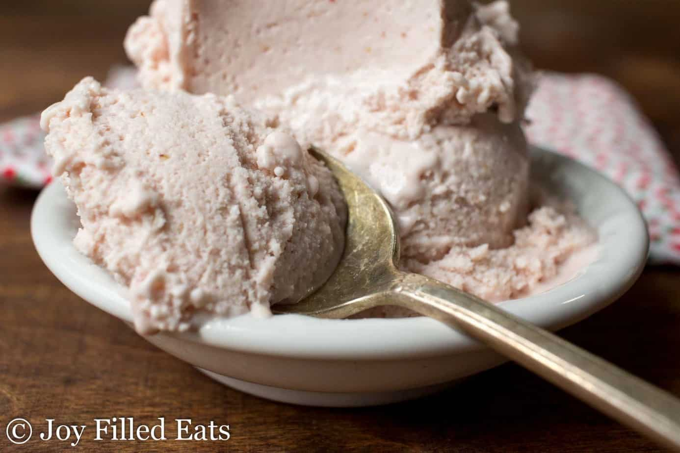 sugar free strawberry ice cream